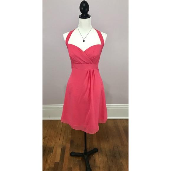 e131dcab086 NWOT ALFRED ANGELO Pink Halter Bridesmaid Dress